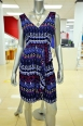 Boast tribal energy in this faux wrap sundress. DKNYC $139